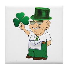Manny the Irish Mason Tile Coaster
