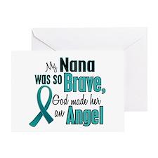 Angel 1 TEAL (Nana) Greeting Card