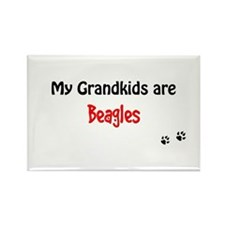 Beagle Grandkids Rectangle Magnet