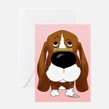 Basset Hound Valentine's Day Greeting Card