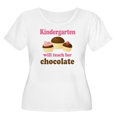 Funny Kindergarten Women's Plus Size Scoop Neck T-