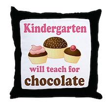Funny Kindergarten Throw Pillow