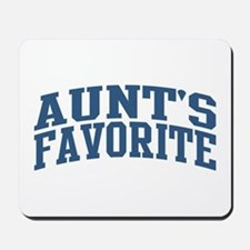 Aunt's Favorite Nickname Collegiate Style Mousepad