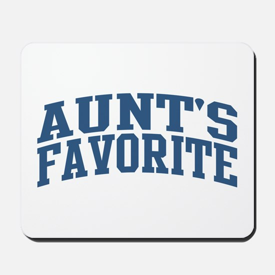 Aunt's Favorite Nickname Collegiate Style Mousepad