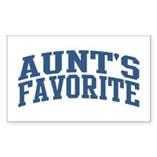 Aunt's Favorite Nickname Collegiate Style Decal