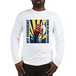 Barack Obama Slam Dunk Long Sleeve T-Shirt