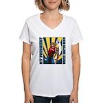 Barack Obama Slam Dunk Women's V-Neck T-Shirt