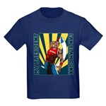 Barack Obama Slam Dunk Kids Dark T-Shirt