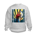 Barack Obama Slam Dunk Kids Sweatshirt