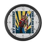 Barack Obama Slam Dunk Large Wall Clock