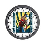 Barack Obama Slam Dunk Wall Clock
