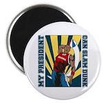 Barack Obama Slam Dunk Magnet