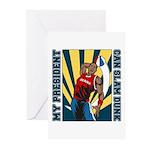 Barack Obama Slam Dunk Greeting Cards (Pk of 10)