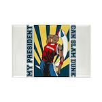 Barack Obama Slam Dunk Rectangle Magnet