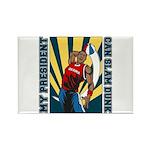 Barack Obama Slam Dunk Rectangle Magnet (10 pack)