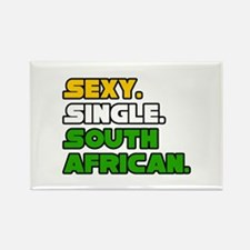 """Sexy. Single. South African"" Rectangle Magnet"