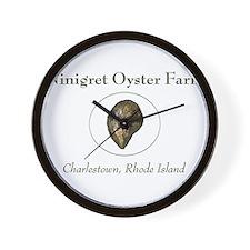 Ninigret Oyster Farm Wall Clock