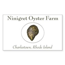 Ninigret Oyster Farm Rectangle Decal