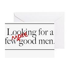 More Good Men Greeting Card