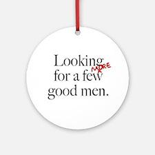 More Good Men Ornament (Round)