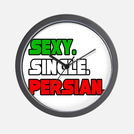 """Sexy. Single. Persian."" Wall Clock"