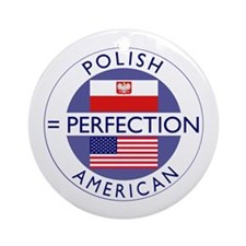Polish American flags Ornament (Round)