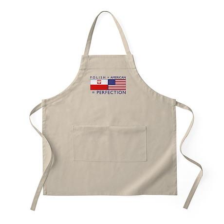 Polish American flags BBQ Apron