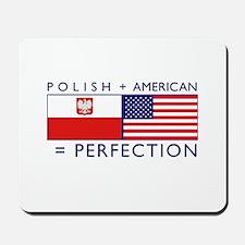 Polish American flags Mousepad