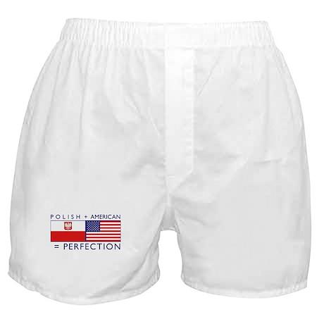 Polish American flags Boxer Shorts