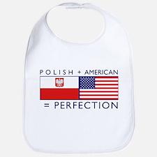 Polish American flags Bib