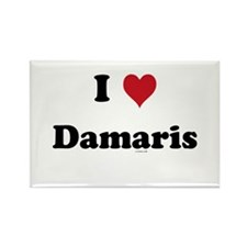 I love Damaris Rectangle Magnet