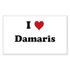 I love Damaris Rectangle Decal