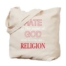 Cute Hate religion Tote Bag