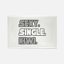 """Sexy. Single. Kiwi."" Rectangle Magnet"
