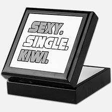 """Sexy. Single. Kiwi."" Keepsake Box"