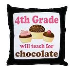 Funny 4th Grade Throw Pillow