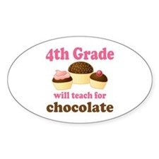 Funny 4th Grade Oval Decal