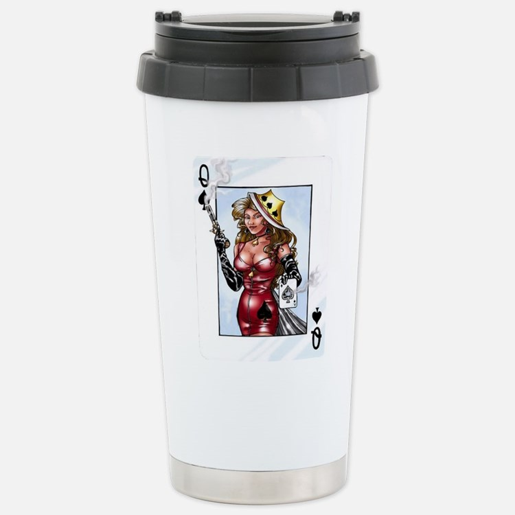 Queen of Spades Stainless Steel Travel Mug
