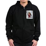 Queen of Spades Zip Hoodie (dark)