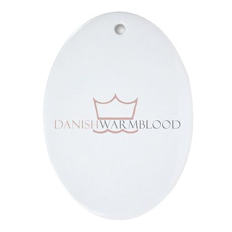 Danish Warmblood Oval Ornament