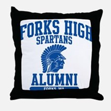Funny Forks high school Throw Pillow
