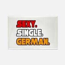 """Sexy. Single. German."" Rectangle Magnet"