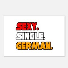 """Sexy. Single. German."" Postcards (Package of 8)"