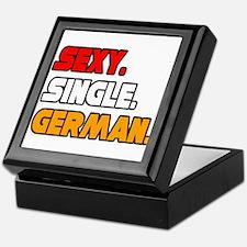 """Sexy. Single. German."" Keepsake Box"