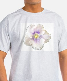 Berry Happy (white & purple) Ash Grey T-Shirt