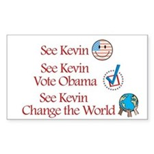 See Kevin Vote Obama Rectangle Decal