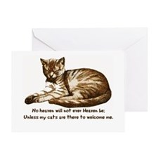 No Heaven Without Cats Greeting Card