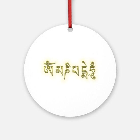 Om Mani Padme Hum Ornament (Round)