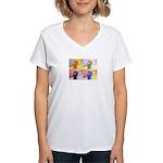 office ape Women's V-Neck T-Shirt