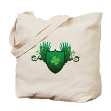 Irish Shamrock Crest Tote Bag
